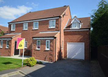 Thumbnail 3 bed semi-detached house to rent in Wetherall Close, Drax, Selby