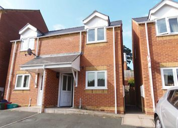 Thumbnail 2 bed semi-detached house to rent in 6, Oaklands Park, Barnfields, Newtown, Powys