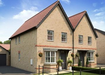 "Thumbnail 3 bedroom end terrace house for sale in ""Oakfield"" at Stoke Road, Poringland, Norwich"