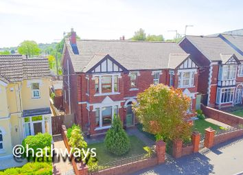 Thumbnail 3 bed semi-detached house for sale in Station Road, Pontnewydd, Cwmbran