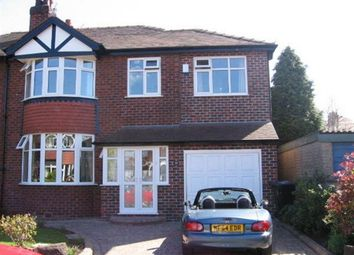 Thumbnail 5 bed semi-detached house to rent in Stanway Drive, Hale, Altrincham
