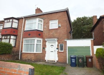 Thumbnail 3 bed semi-detached house for sale in Normount Road, Benwell, Newcastle Upon Tyne
