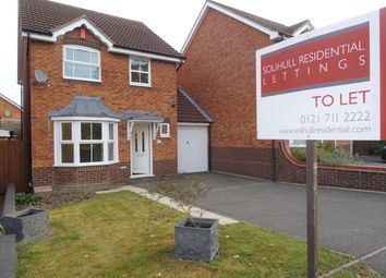 Thumbnail 1 bed detached house to rent in Woodperry Avenue, Solihull