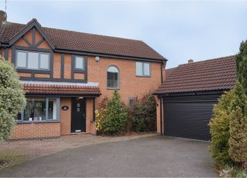 Thumbnail 4 bed detached house for sale in Surrey Close, Hinckley