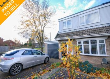 Thumbnail 3 bed semi-detached house for sale in Gloucester Court, Brunton Bridge, Newcastle Upon Tyne