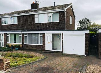 Thumbnail 3 bed semi-detached house for sale in Barrowburn Place, Seghill, Cramlington