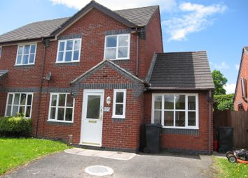 Thumbnail 3 bed semi-detached house to rent in Little Henfaes Drive, Welshpool