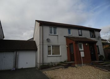 Thumbnail 3 bed semi-detached house to rent in Springfield Close, St Austell, Cornwall
