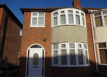 Thumbnail 3 bed semi-detached house to rent in Eastwood Road, Leicester, Leicestershire