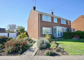 Thumbnail 3 bed semi-detached house for sale in Woodfield Avenue, Bury, Cambridgeshire.