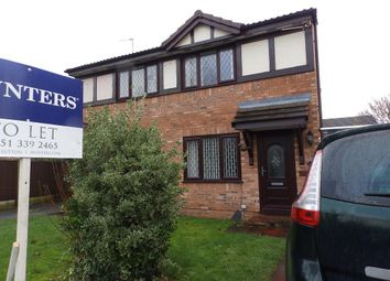 Thumbnail 2 bedroom semi-detached house to rent in Brecon Drive, Great Sutton, Cheshire