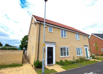 Thumbnail 3 bed semi-detached house for sale in Hornbeam Road, North Walsham