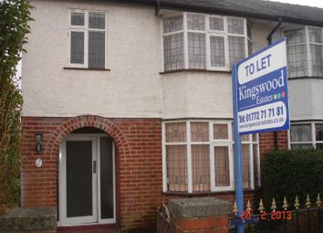Thumbnail 3 bed terraced house to rent in Queens Road, Fulwood, Preston