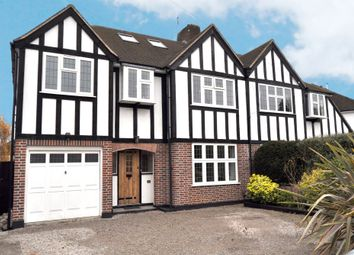 Thumbnail 4 bedroom semi-detached house for sale in Manor Drive, Hinchley Wood, Esher