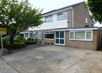 Thumbnail 4 bed semi-detached house for sale in Carisbrooke Crescent, Hamworthy, Dorset