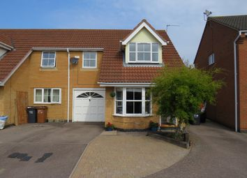 Thumbnail 3 bed semi-detached house for sale in Aldwell Close, Wootton, Northampton