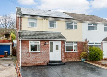 Thumbnail 4 bed semi-detached house for sale in Shannon Close, Blackwood, Gwent