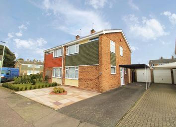 Thumbnail 3 bed semi-detached house for sale in Greenview Close, Kempston, Bedfordshire