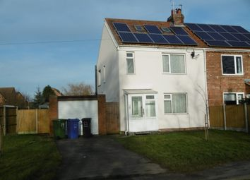 Thumbnail 2 bed semi-detached house for sale in 19 Kirton Road, Blyton, Gainsborough, Lincolnshire