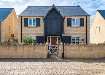 Thumbnail 4 bed detached house for sale in Maxey Road, Helpston, Peterborough