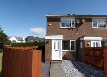 Thumbnail 2 bedroom end terrace house to rent in Harringdale Road, High Harrington, Workington
