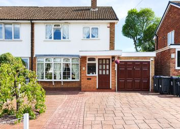 Thumbnail 3 bed semi-detached house for sale in Longmeadow Close, Sutton Coldfield, West Midlands