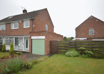 Thumbnail 3 bed semi-detached house for sale in Allendale Crescent, Shiremoor, Newcastle Upon Tyne
