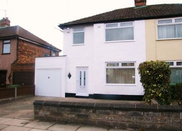 Thumbnail 3 bedroom semi-detached house to rent in Linkside Road, Woolton, Liverpool