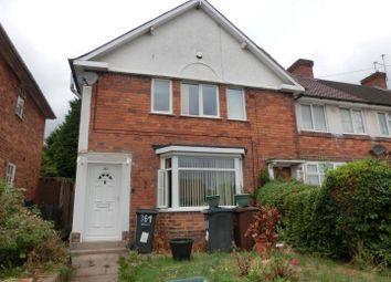 Thumbnail 3 bedroom end terrace house for sale in Gospel Lane, Acocks Green, Birmingham