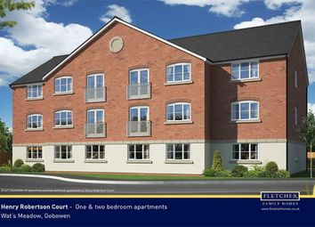 Thumbnail 1 bed flat for sale in Henry Robertson Drive, Gobowen, Oswestry