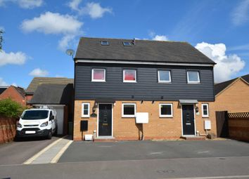 Thumbnail 3 bedroom semi-detached house to rent in Somerset Walk, Broughton, Milton Keynes