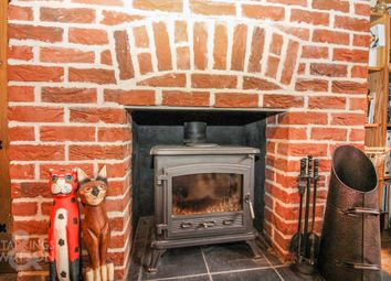 Thumbnail 3 bed semi-detached house for sale in Turnpike, Fundenhall, Norwich