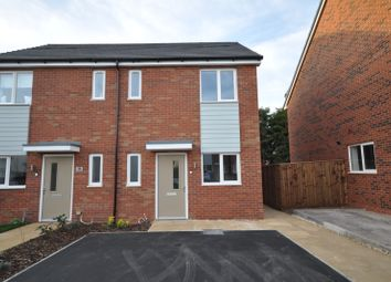 Thumbnail 2 bed semi-detached house to rent in Hazel Crescent, Branston, Burton-On-Trent