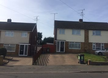 Thumbnail 3 bed semi-detached house to rent in Calverton Road, Luton