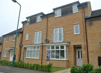Thumbnail 4 bed town house for sale in Fletcher Way, Gunthorpe, Peterborough, Cambridgeshire