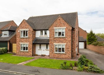 Thumbnail 4 bed detached house for sale in Gainsborough Close, Strensall, York