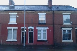 Thumbnail 2 bed terraced house to rent in Claremont Road, Rusholme, Manchester