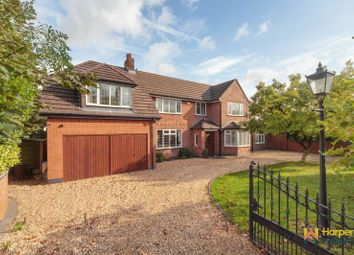 Thumbnail 5 bed detached house for sale in Common Lane, Culcheth, Warrington