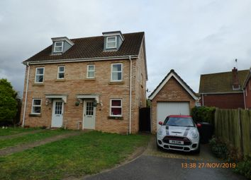 Thumbnail 3 bedroom semi-detached house to rent in Rushton Drive, Carlton Colville, Lowestoft