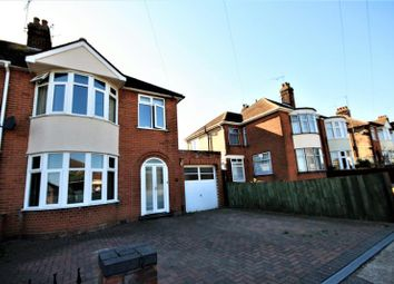 Thumbnail 3 bedroom semi-detached house to rent in Beechcroft Road, Ipswich, Suffolk