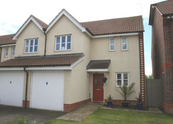 Thumbnail 3 bed semi-detached house to rent in Walkers Way, Wootton, Northampton