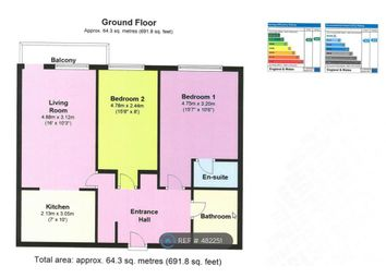 Thumbnail 2 bed flat to rent in Clarkson Court, Hatfield