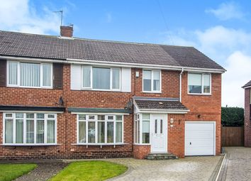Thumbnail 4 bed semi-detached house for sale in Winchester Walk, Wideopen, Newcastle Upon Tyne
