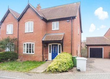 Thumbnail 3 bed semi-detached house for sale in Mileham Drive, Aylsham, Norwich