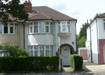 Thumbnail 3 bed semi-detached house to rent in Carlyon Avenue, Harrow