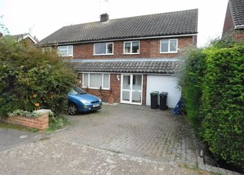Thumbnail 4 bedroom semi-detached house for sale in Gainsborough Road, Stowmarket