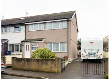 Thumbnail 3 bed end terrace house for sale in Glan Peris, Caernarfon