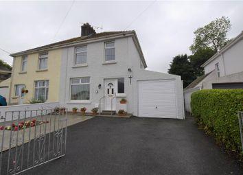 Thumbnail 3 bedroom semi-detached house for sale in Merlins Avenue, Merlins Bridge, Haverfordwest