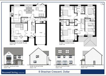 Thumbnail 4 bed detached house for sale in Strachan Crescent, Dollar