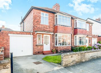 Thumbnail 3 bed semi-detached house for sale in Cochrane Park Avenue, High Heaton, Newcastle Upon Tyne